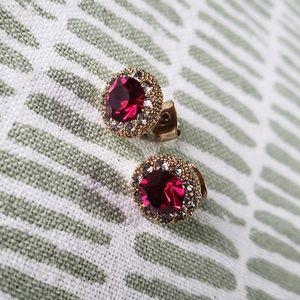Flash sale💥Ruby dainty crystal stud earrings